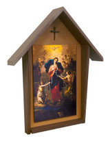 Mary, Undoer of Knots Deluxe Poly Wood Outdoor Shrine