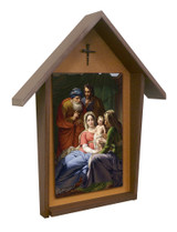 Holy Family with Grandparents Deluxe Poly Wood Outdoor Shrine