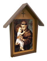 St. Anthony Deluxe Poly Wood Outdoor Shrine