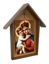 Our Lady of Good Remedy Deluxe Poly Wood Outdoor Shrine