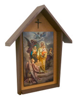 St. Joseph Patron of the Universal Church Deluxe Poly Wood Outdoor Shrine