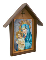Mater Ecclesiae Deluxe Poly Wood Outdoor Shrine