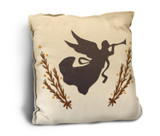 Angel with Trumpet Rustic Pillow