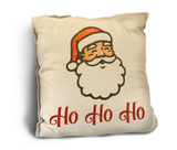 """Ho, Ho, Ho"" Rustic Pillow"