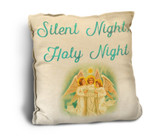 """Silent Night, Holy Night"" Rustic Pillow"