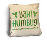 """""""Bah Humbug"""" Rustic Pillow"""