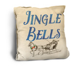"""Jingle Bells"" Rustic Pillow"