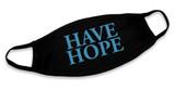 """""""Have Hope"""" Black Cotton Face Masks (Pack of 6)"""