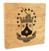 Discalced Carmelite Crest Rustic Box Art