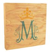 Marian Symbol Rustic Box Art