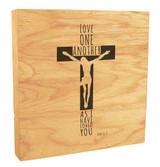 """As I Have Loved You"" Rustic Box Art"