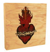 Sacred Heart Rustic Box Art