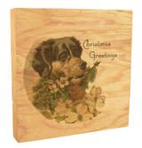 Vintage Merry Christmas Dog Rustic Box Art