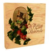 Vintage Kitty Portrait Rustic Box Art