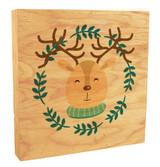 Cute Reindeer with Scarf Rustic Box Art