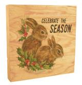 "Vintage ""Celebrate the Season"" Rustic Box Art"