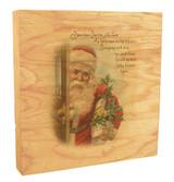 Vintage Santa at the Door Rustic Box Art