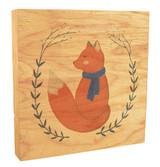 Cute Fox with Scarf Rustic Box Art