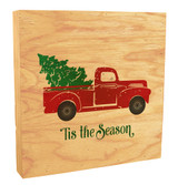 """""""Tis the Season"""" with Red Truck Rustic Box Art"""