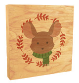 Cute Mouse with Scarf Rustic Box Art