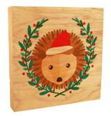 Cute Hedgehog with Santa Hat Rustic Box Art