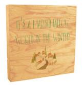 """Marshmallow World"" Rustic Box Art"