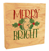 """""""Merry and Bright"""" Rustic Box Art"""