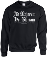 """AMDG"" Black Crewneck Sweatshirt"