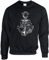 """The World Is Thy Ship"" Crewneck Sweatshirt"