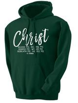 """""""Christ Beside Me"""" Black Hoodie"""