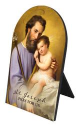 Commemorative St. Joseph Arched Desk Plaque