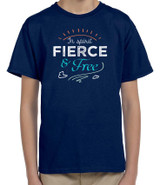 """Fierce and Free"" G.K. Chesterton Quote Children's T-Shirt"