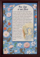 Our Lady of this House - Cherry Framed Art