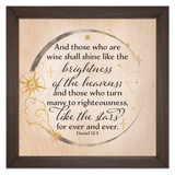 """Like the Stars"" Rustic Framed Quote"