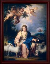 The Divine Shepherdess - Cherry Framed Art