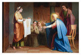 Veronica Presenting Her Veil to Mary and John Print