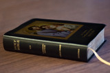 Personalized Catholic Bible with St. Joseph Cover - Black Bonded Leather RSVCE
