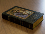 Personalized Catholic Bible with St. Joseph Cover - Black Genuine Leather NABRE