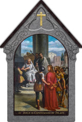 Bertucci Indoor Outdoor Stations of the Cross Aluminum Shrine Prints (Set of 14)