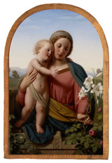 Madonna and Child by Franz Ittenbach Cloister Collection Catholic Icon Plaque