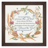 """Praise the Lord"" Rustic Framed Quote"