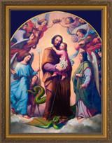 St. Joseph, Terror of Demons - Gold Framed Canvas