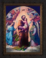St. Joseph, Terror of Demons - Ornate Dark Framed Canvas