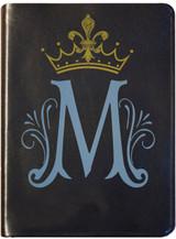 Personalized Catholic Bible with Marian Symbol- Black Bonded Leather RSVCE