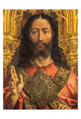Christ Enthroned by Jan Gossaert Print