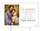 Commemorative St. Joseph Yard Sign
