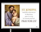 Commemorative St. Joseph Yard Sign