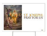 St. Joseph Patron of the Church Yard Sign