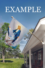 Saint Joseph, Patron of the Church (Pray for Us) Outdoor House Flag