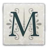 """""""M"""" Alphabet 2 Tumbled Stone Coaster"""